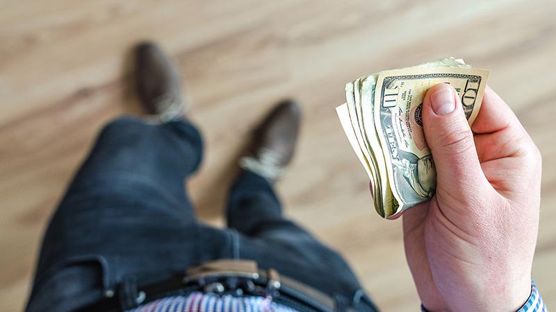 hold cash